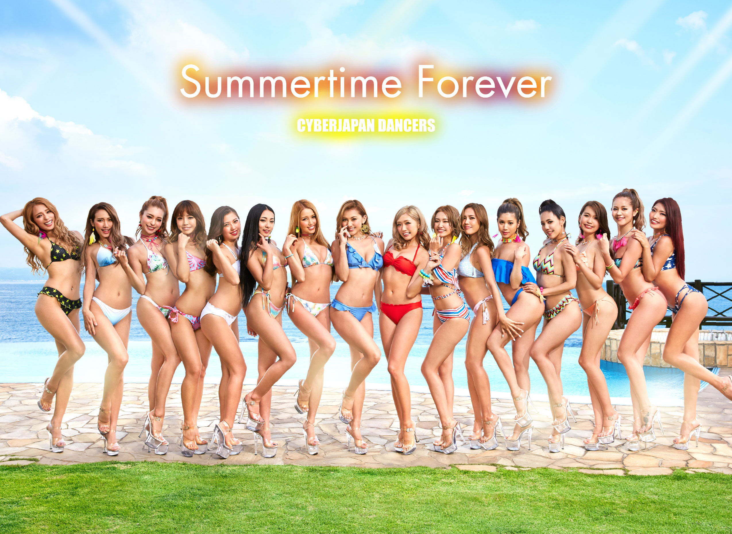 CYBERJAPAN DANCERS『Summertime Forever』/ Art Work